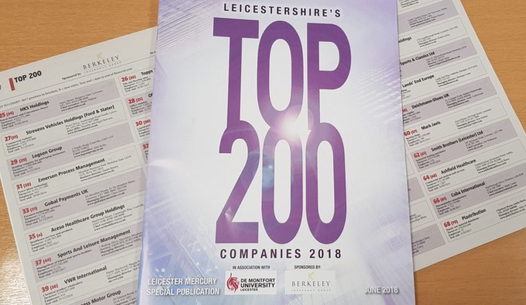 Leicestershires Top 200 companies 2018