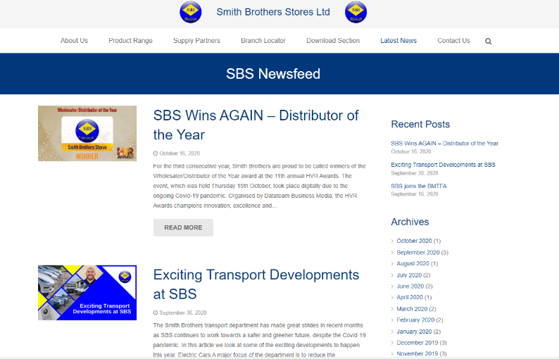 SBS Newsfeed - October 2020