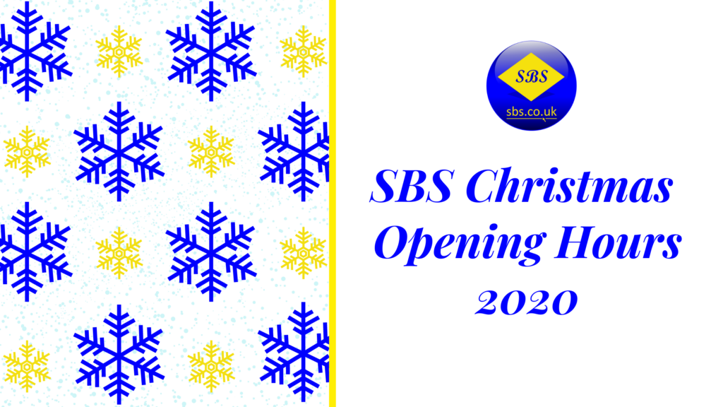 SBS Christmas Opening Hours 2020