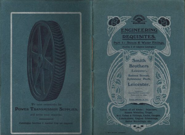 A Smith Brothers brochure advertising power transmission components.