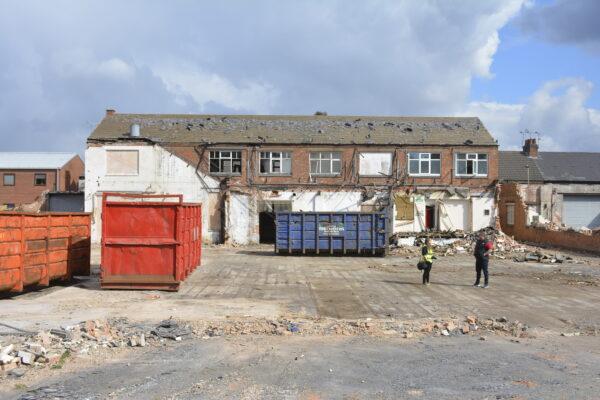 The old Batten Street Premises during demolition.