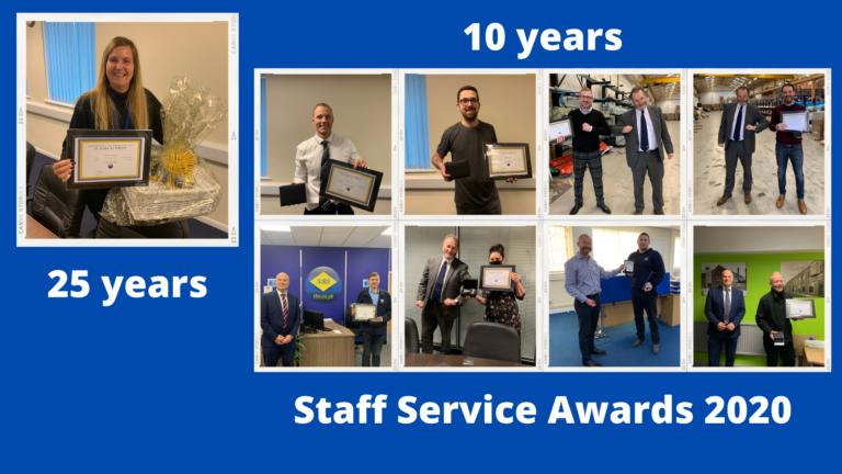 Staff service awards