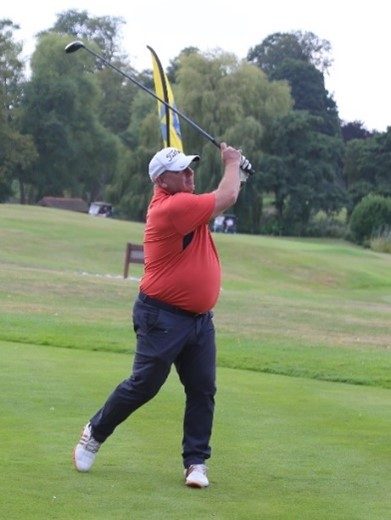 Gene Clout from T4 Mechanical & Electrical Ltd, the winner of the National Golf Day